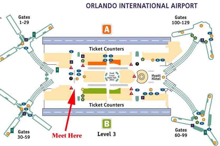 Orlando Airport Car Rental Map