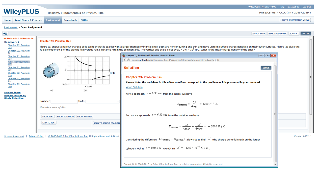 """In the example shown below (click the image to enlarge), """"-3600"""" in the  equation should be """"-2400"""". We have asked WileyPLUS to correct the typo."""