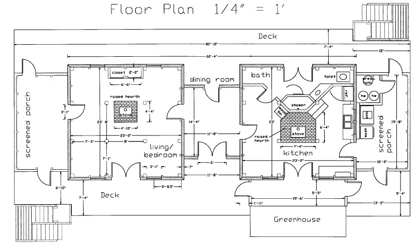 The CAD drawing below shows the floor plan for our house.