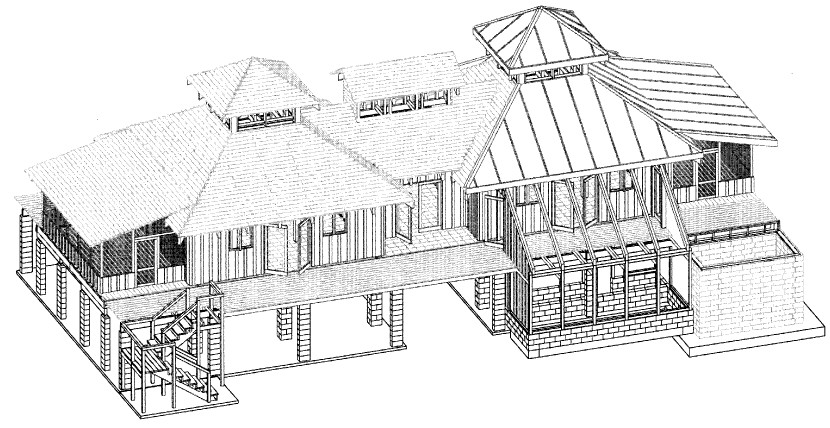 Florida solar house Autocad house drawings