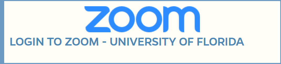 UF Zoom Login