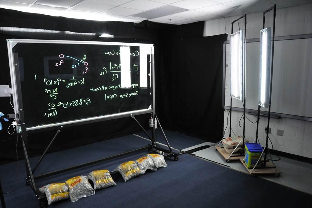 University Of Florida Physics Department Lightboard Design