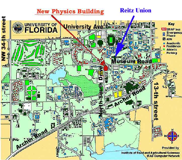University Of Florida Campus Map CDF at UF Travel
