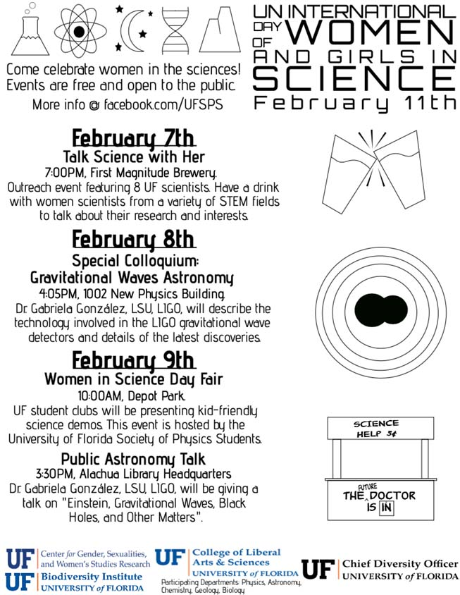 women in science day flyer