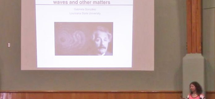 """Einstein, Gravitational Waves, Black Holes, and Other Matters"" by Gabriela González"